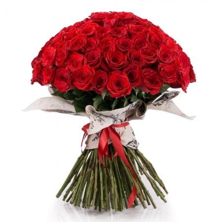 Buchet de 101 Trandafiri Roșii Premium. Comandă online 101 trandafiri roșii calitatea I.