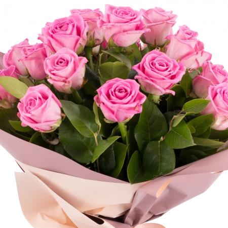 Buchet de 19 Trandafiri roz