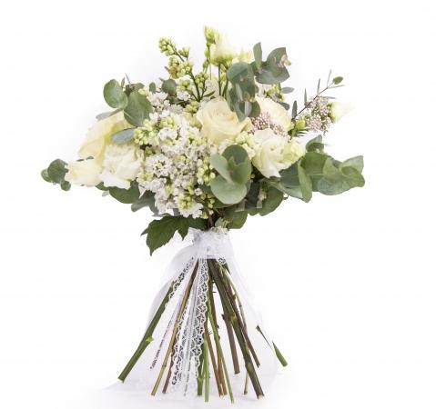 Buchet mireasa/nasa trandafiri liliac