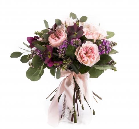 Buchet Mireasa-Nasa Trandafiri roz. Comanda online buchet de mireasa sau de nasa din trandafiri roz | Flori24