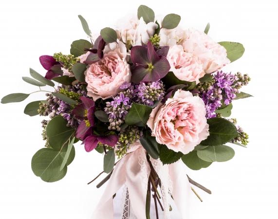 Buchet Mireasa/Nasa trandafiri roz