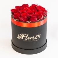 Cutie 13 trandafiri rosii 2