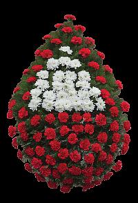 Coroana garoafe rosii centru crizantema 2