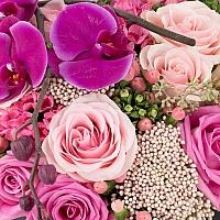 Inimă de flori-Buchet trandafiri multicolori inima de flori. Preț accesibil | Flori24 4