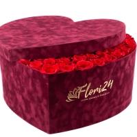 Aranjament din trandafiri roșii sau Cutie cu trandafiri roșii 6