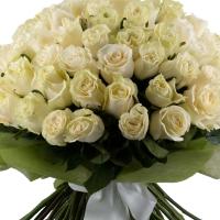 Buchet de 101 trandafiri albi  3