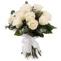 Buchet de 15 Trandafiri albi 2
