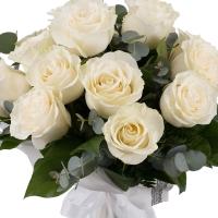 Buchet de 15 Trandafiri albi 3