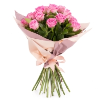 Buchet de 19 Trandafiri roz 2