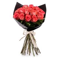 Buchet de 25 Trandafiri corai 2
