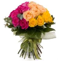 Buchet de 27 Trandafiri tricolori 2