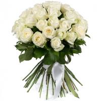 Buchet de 35, Trandafiri, Albi, Verdeață 2
