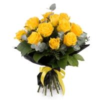 Buchet din 15 Trandafiri Galbeni 2