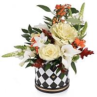 Buchet din Brasica, Euphorbia portocalie, Ornitogalum, Cale, Cală, Eucharis, Grandiflora, Verdeață 2