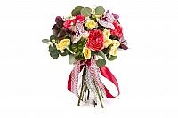 Buchet Mireasa/Nasa trandafiri ciclam si phalaenopsis 2