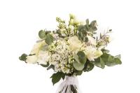 Buchet mireasa/nasa trandafiri liliac 3