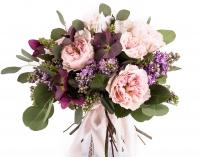 Buchet Mireasa-Nasa Trandafiri roz. Comanda online buchet de mireasa sau de nasa din trandafiri roz | Flori24 3