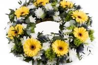 Coroana funerara rotunda Gerbera 3