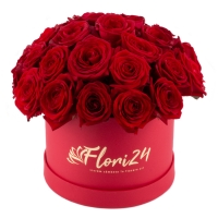 Cutie cu 27 de trandafiri 2