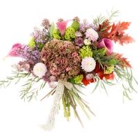 Hortensia, Cappucino, Dalii, Liliac, Cale, Cală, Viburnum, Astrantia, Eucalipt, Frunze de arțar 2