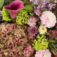 Hortensia, Cappucino, Dalii, Liliac, Cale, Cală, Viburnum, Astrantia, Eucalipt, Frunze de arțar 4