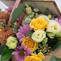 Hortensia, Hortensie, Minirosa, Crizanteme, Crizantemă, Lisianthus, Dalii, Astrantia, Cutie, Verde 4