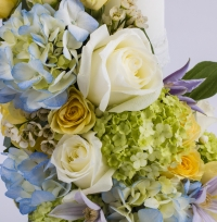 Lumanare nunta/botez hortensia albastra 4