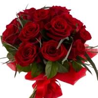 Știi ca te iubesc: buchet elegant cu 15 trandafiri rosii. 3