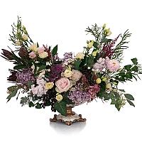 Trandafiri, Banan, Leucadendron, Liliac, Lisianthus, Matthiola, Hotensia, Brasica, Astilbe, Schimia 2