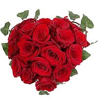 Aranjament de 19, Trandafiri, Roșii, Roșu, Roșie, Vas ceramic 2
