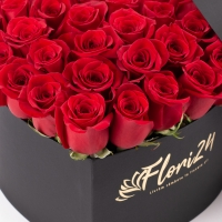 Aranjament din trandafiri roșii 2