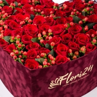 Aranjament din trandafiri roșii 3