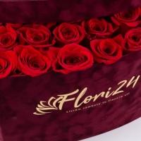 Aranjament din trandafiri roșii sau Cutie cu trandafiri roșii 4
