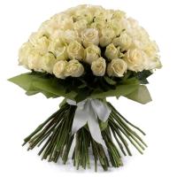 Buchet de 101 trandafiri albi  2