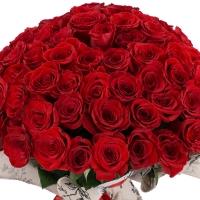 Buchet de 101 Trandafiri Roșii Premium. Comandă online 101 trandafiri roșii calitatea I. 2