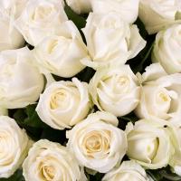 Buchet de 35, Trandafiri, Albi, Verdeață 3