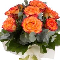 Buchet de 9 Trandafiri portocalii 3