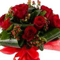 Buchet de trandafiri roșii  2