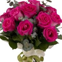Buchet din 15 Trandafiri ciclam 2