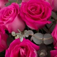 Buchet din 15 Trandafiri ciclam 3