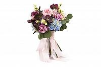 Buchet Mireasa/Nasa hortensie,trandafiri si heleborus 2