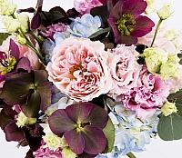 Buchet Mireasa/Nasa hortensie,trandafiri si heleborus 3