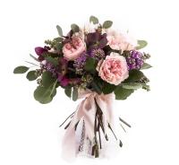 Buchet Mireasa-Nasa Trandafiri roz. Comanda online buchet de mireasa sau de nasa din trandafiri roz | Flori24 2
