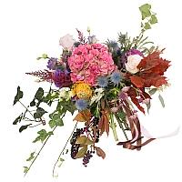 Hortensia, Brasica, Eringyum, Dalii, Leucospermum, Trandafiri, Lisianthus, Veronica, Astrantia 2