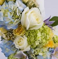 Lumanare nunta/botez hortensia albastra 3