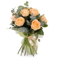 Scantei de dragoste: buchet trandafiri portocalii peach | Flori24 2