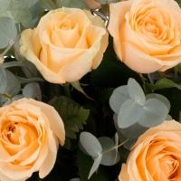 Scantei de dragoste: buchet trandafiri portocalii peach | Flori24 4