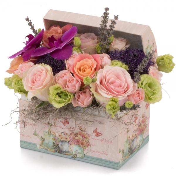 Aranjament floral tezaur de flori exceptional.