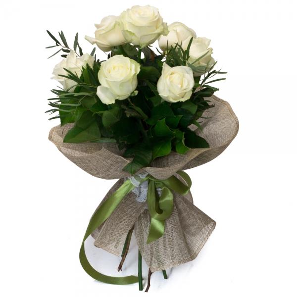 Buchet de 7 Trandafiri albi