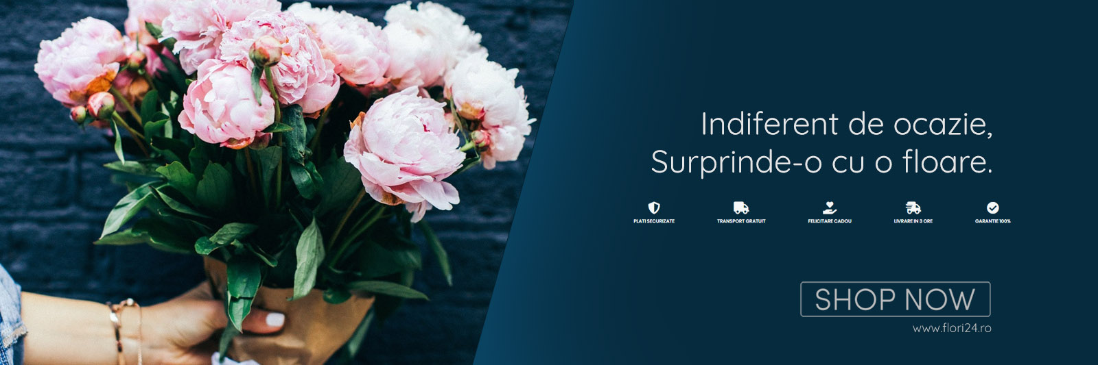 Indiferent de ocazie, surprinde-o cu o floare.